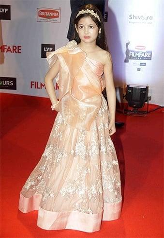 Harshaali Malhotra at Filmfare Awards