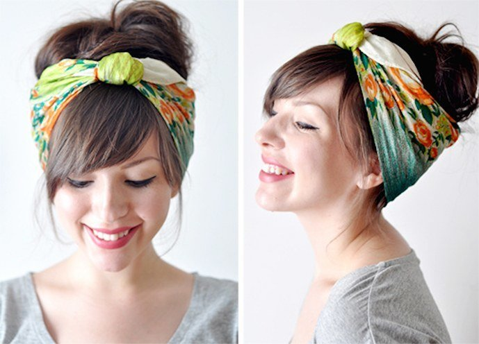 how to wear a bandana with short hair