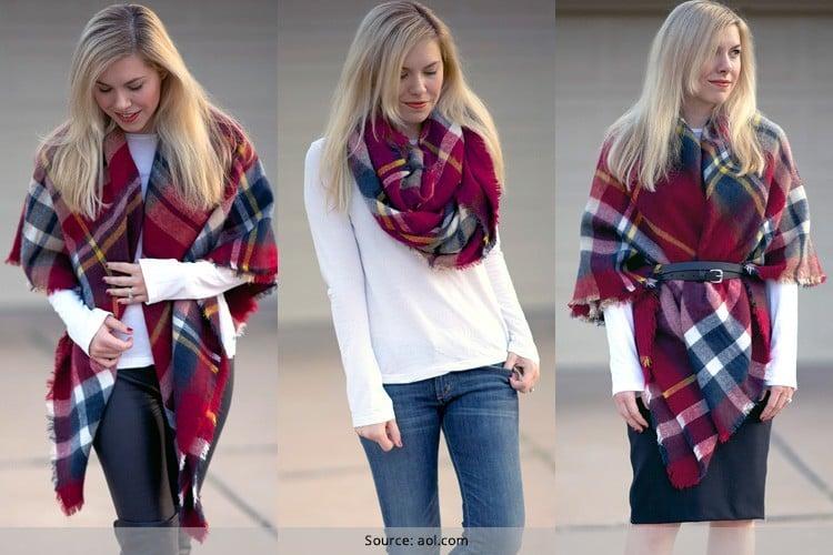 How To Wear A Blanket Scarf: 7 Ways to Wear
