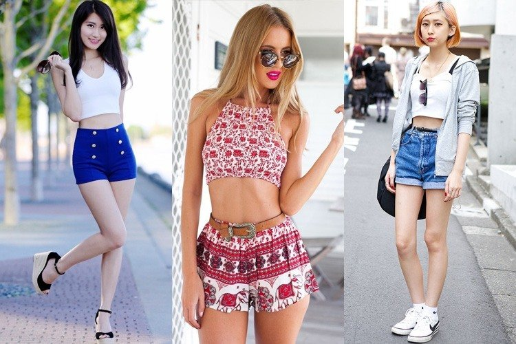How To Wear High Waisted Shorts