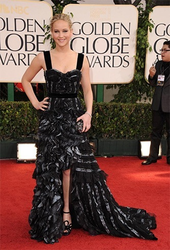 Jennifer Lawrence at Golden Globes Awards 2011
