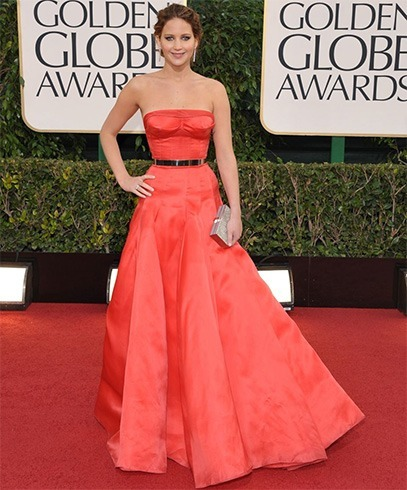 Jennifer Lawrence at Golden Globes Awards 2013