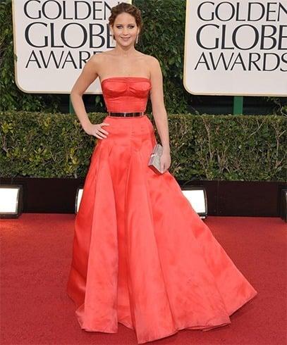 Jennifer Lawrence at Golden Globes Awards 2013