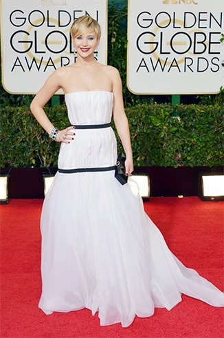 Jennifer Lawrence at Golden Globes Awards 2014