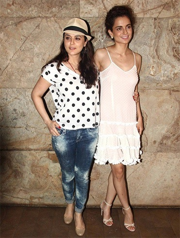 Kangana Ranaut and Preity Zinta