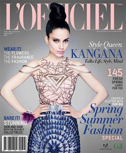 Kangana Ranaut on Lofficiel