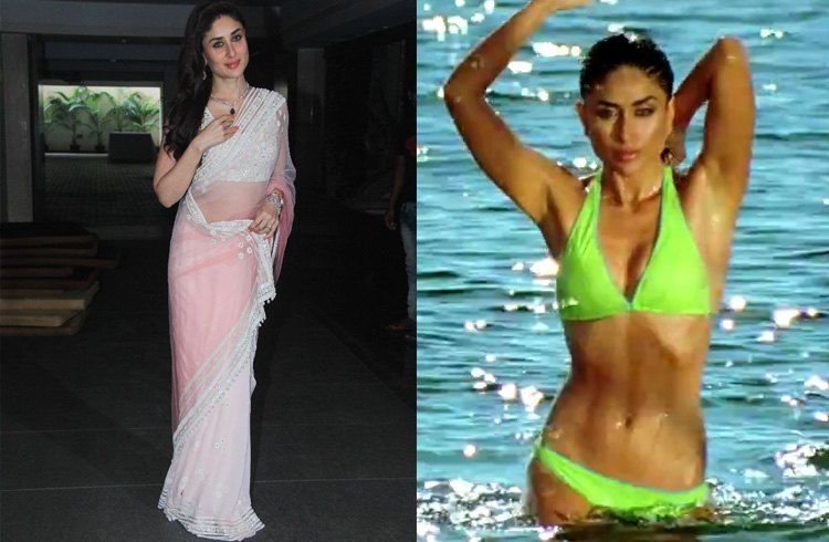Kareena Kapoor in Saree and Bikini