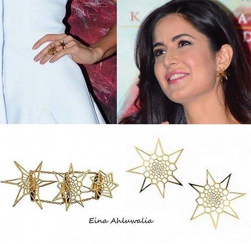 Katrina Kaif in Eina Ahluwalia jewellery