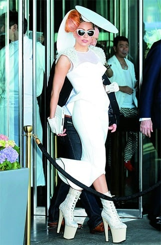 Lady Gaga in Alpana and Neeraj creation