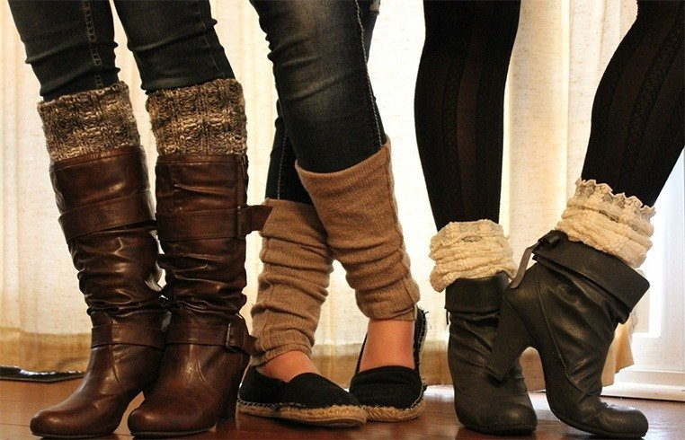 Leg Warmers With Different Footwear