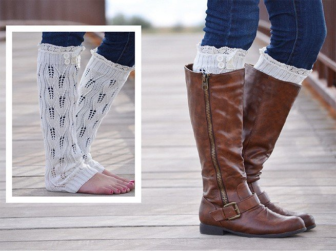 Leg Warmers with High Boots