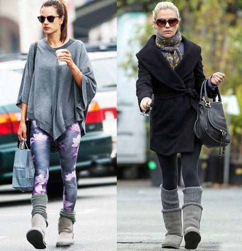 Leg Warmers with ugg Boots