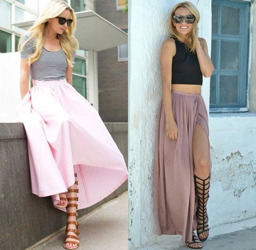 Long skirts and gladiators