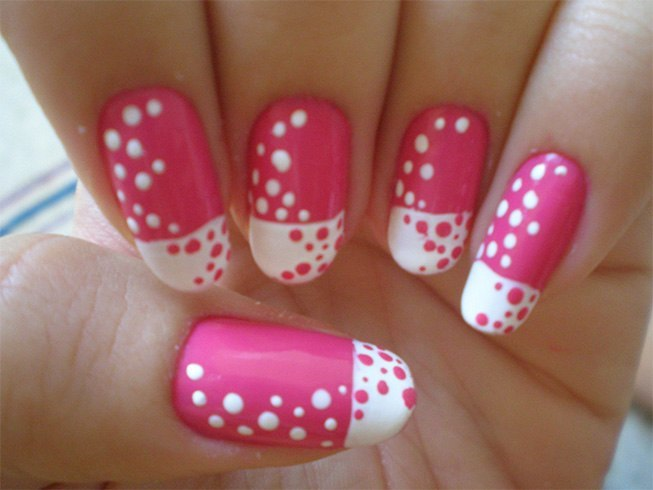 Pink and White Long Nail Ideas