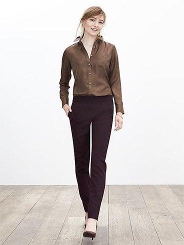 Plain drapey pant