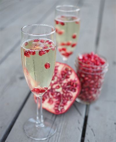 Pomegranate Seeds In Water