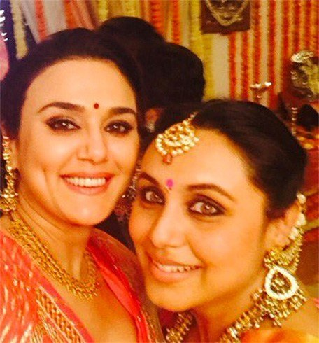 Rani and Preity Zinta selfie