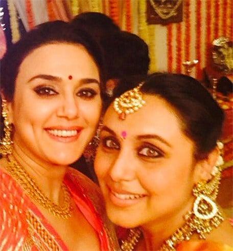 Rani and Preity Zinta selfie