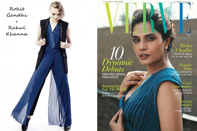 Richa Chadda on Verve January 2016 Magazine Cover