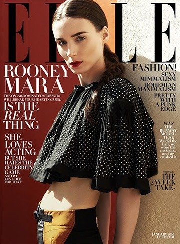 Rooney Mara on Elle Magazine January 2016