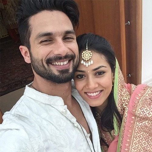 Shahid And Mira Selfie