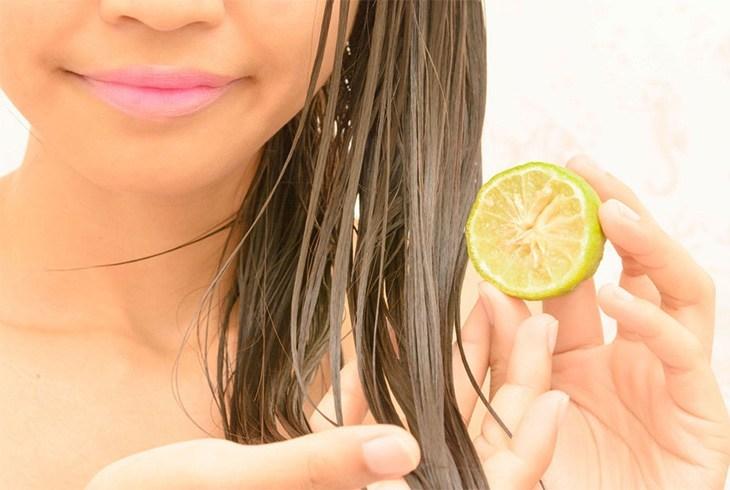 Soak hair in lemon juice