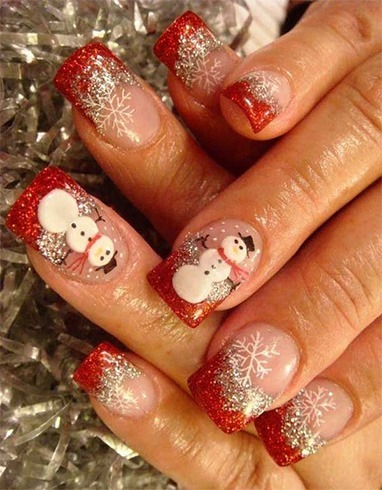 Sparkly Frosty Nail Art