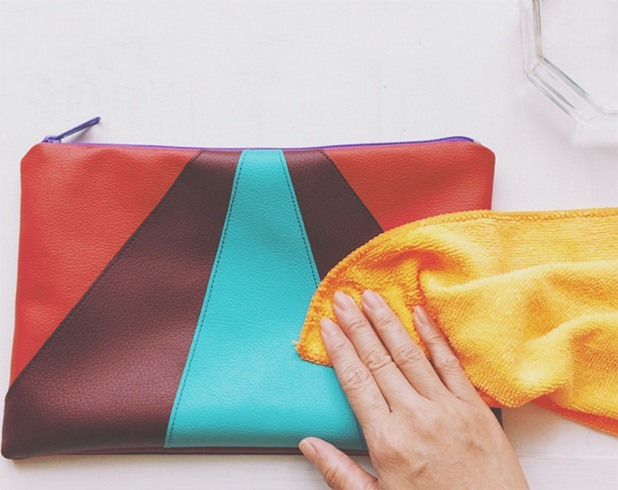 How to clean leather purse of stains