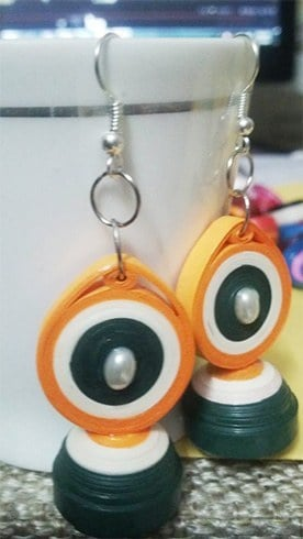 Tri Colour Earrings