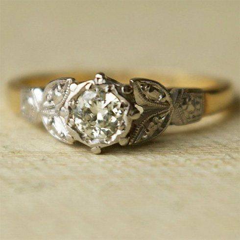 exquisite vintage engagement ring inexpensive vintage