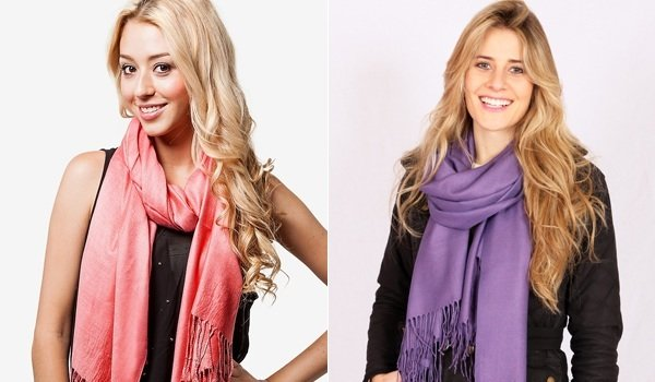 how to wear a pashmina scarf like pro