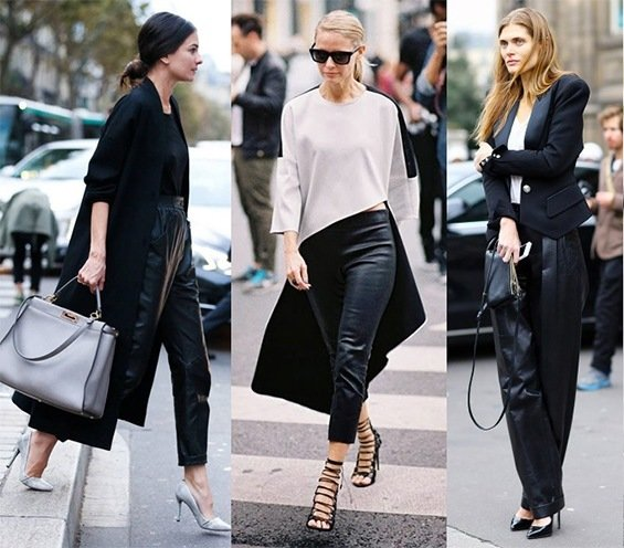 ways to wear leather pants