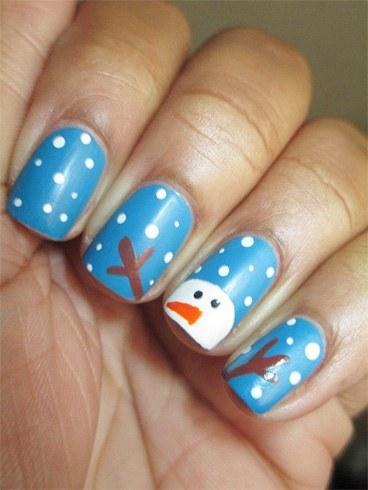 Easy Snowman Nail Arts