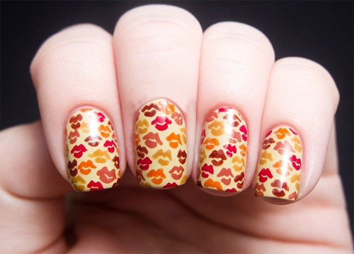 Best Kiss Nail Art Designs with Pictures