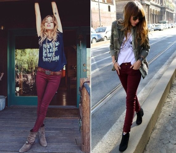 Best ways to wear maroon pants