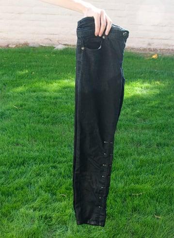Bleaching dark jeans