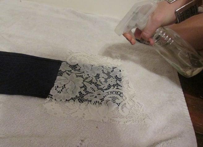 Bleaching jeans