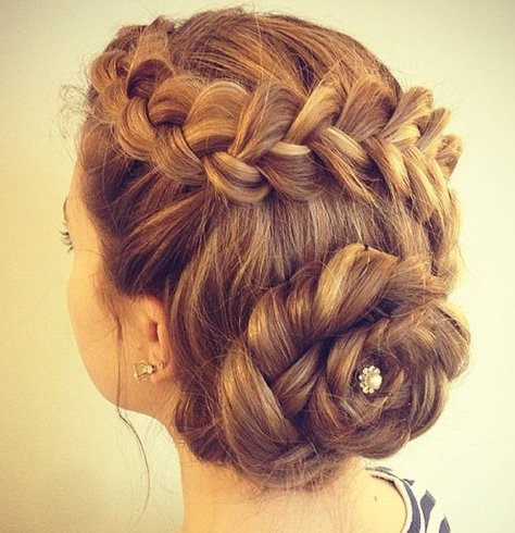 Braided Florette Updo