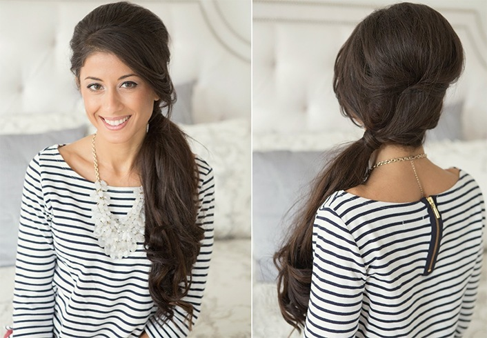 Easy And Stylish Retro Hairstyle