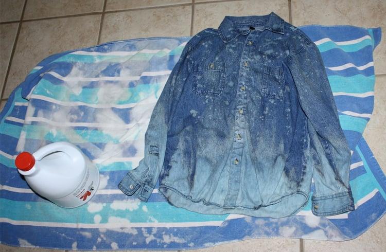 How to bleach jeans, how to bleach