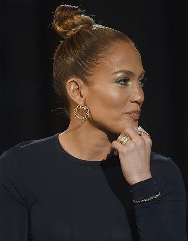 Jennifer Lopez hair bun