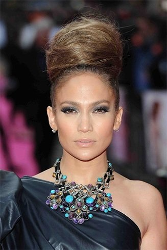 Jennifer Lopez hair buns