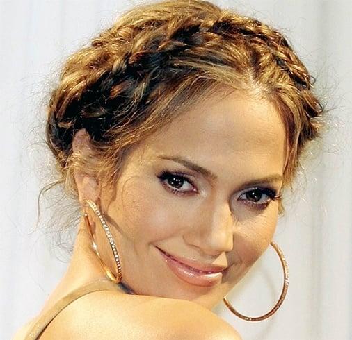 Jennifer Lopezs Braided Bun