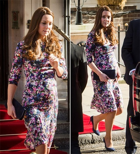Kate Middletons floral Erdem dress