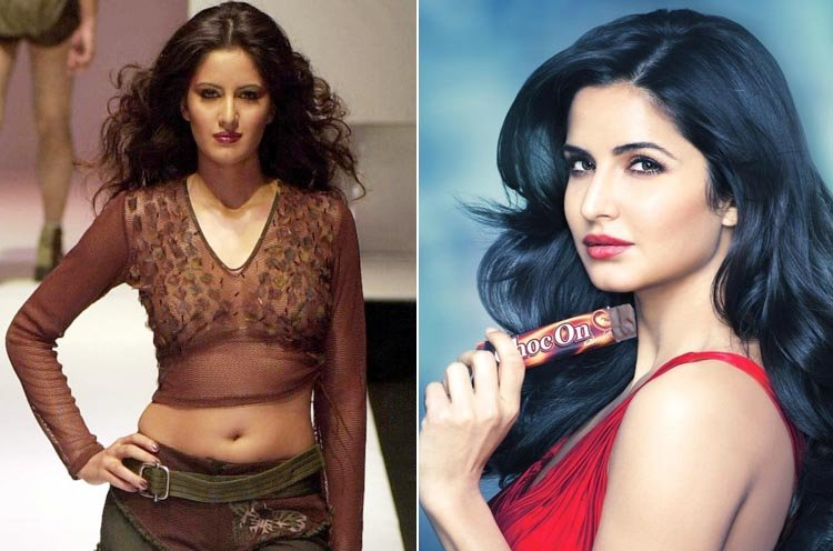 Katrina Kaif then and now