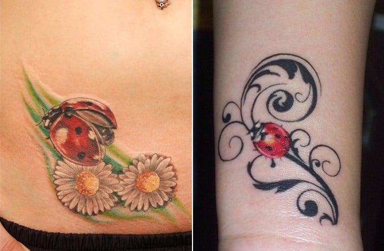 Ladybug Tattoo Designs