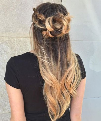 Ombre Braid and Bun