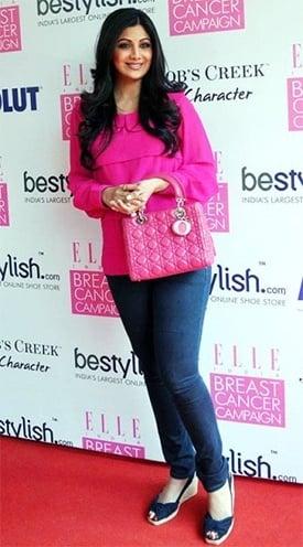Shilpa Shetty Lady Dior bag