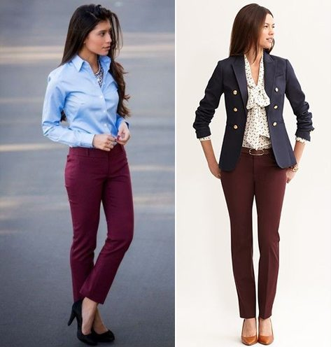 Style Tips on how to wear maroon pant