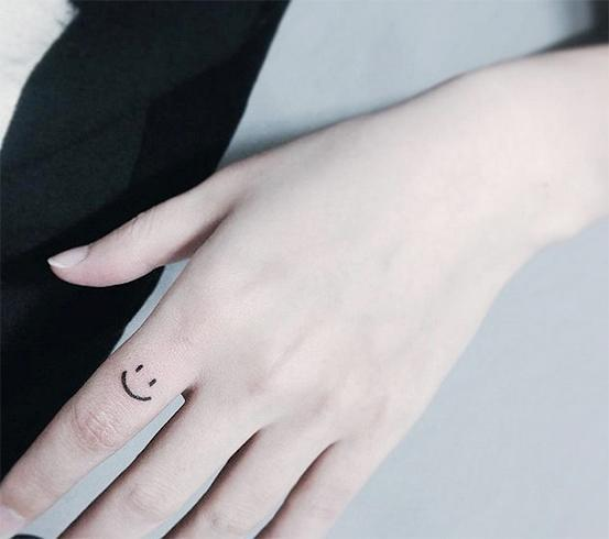 Tattoos on finger